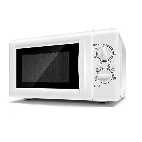 Microondas manual con descongelación, 6 cocciones automáticas preprogramadas, temporizador de 0 a 30 min, cavidad fácil de usar y limpia, diseño elegante, apagado automático, 700 W, 20 l, color blanco