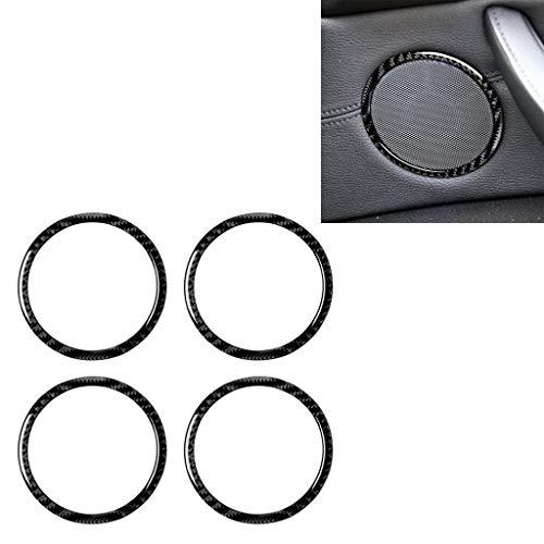 Productos para bebés 4 en 1 coche de fibra de carbono color sólido Cuerno Anillo adhesivo decorativo for BMW 2008-2013 E70 / E71 2008-2014, izquierda y derecha Universal Drive Productos para bebés