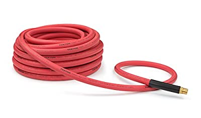 TEKTON 46137 3/8-Inch I.D. by 50-Feet 300 PSI Hybrid Air Hose with 1/4-Inch MPT Ends and Bend Restrictors