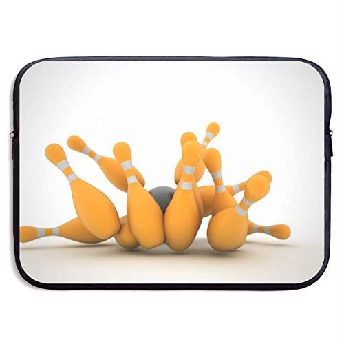 Funny Z Wasserdichte Laptop Hülle Bowling Print Business Aktentasche Schutztasche Computer Case Cover 13×10 Zoll