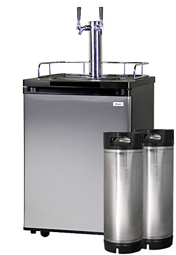 Kegco HBK209S-2K Home Brew Kegerator - Black Cabinet and Stainless Steel Door
