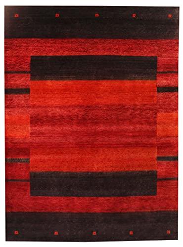 Ashton Red Gabbeh - Alfombra (170 x 240 cm), diseño tradicional
