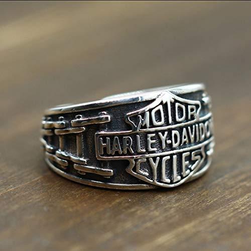 YOYOYAYA Ring S 925 Sterling Silber Schmuck Männlich Lokomotive Wind Harley Einstellbar Retro Classic Partei Frau Paar Exquisite Fashion Einfachheit Geburtstag Gedenken Geschenk