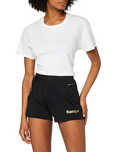 Kempa Damen Curve Shorts Women Hose, schwarz/Gold, S