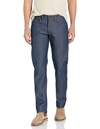 Naked & Famous Denim Men's Weird Guy Tapered Fit Jean in Natural Indigo Selvedge, 32