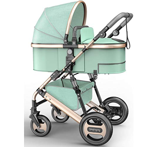 Great Price! STRR Pram, Convertible Reclining Stroller, Foldable and Portable Shockproof Stroller Ba...