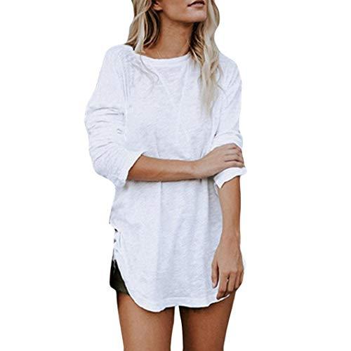 TWIFER Plus Size Damen Langarmshirt Chic Blusen Top T-Shirt Bekleidung Streetwear