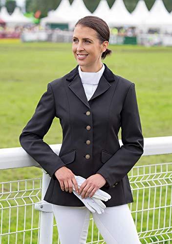 Shires Aston Show –chaqueta de equitación para mujer en todos los tamaños y de color azul marino o negro, mujer, negro