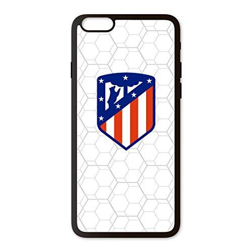PHONECASES3D Funda móvil Atlético de Madrid Escudo Compatible con iPhone 6 Plus. Carcasa de TPUde Alta protección. Funda Antideslizante, Anti choques y caídas. - Blanco