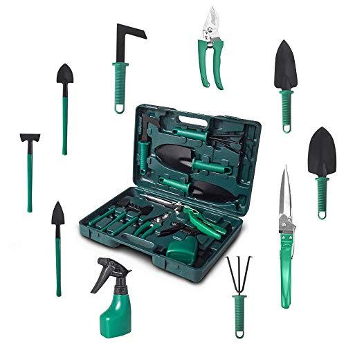 Kiaitre Gardening Tools Set - Portable 10 Pieces Garden Tool...