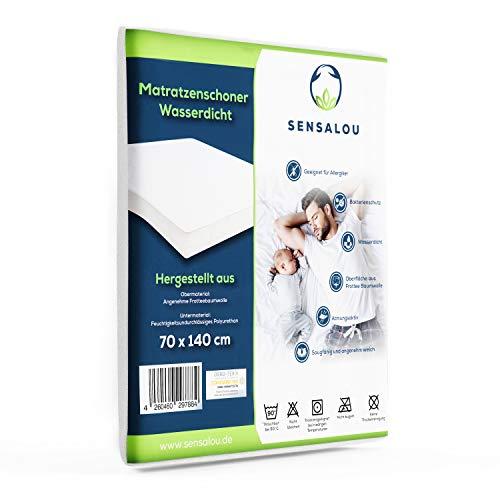 Sensalou Wasserdichter Matratzenschoner mit extremer Saugkraft - Perfekter Nässeschutz - Atmungsaktive Matratzenauflage - Hochwertigste Materialien (1 Stück - 70x140 cm)