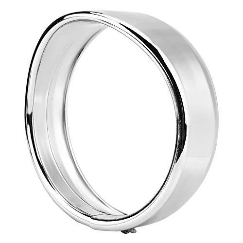 Gorgeri 5.75/4.5inch Visier Style Scheinwerfer Silber/Schwarz Scheinwerfer Lichtverkleidung Beauty Ring Scheinwerferverkleidungsring(4.5inch-Silber)