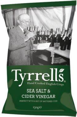 Tyrrells Sea Salt & Cider Vinegar Crisp 150g - CLF-TYR-CID150G by Tyrrells