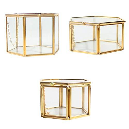 Fenteer 3X Boîte de Terrarium en Verre Transparent Maison Serre de Table pour Plante Micropaysage Organisateur de Bijoux