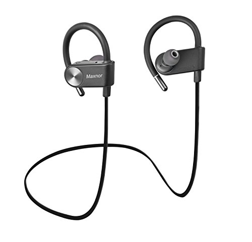 Bluetooth Headphones, Maxnor Wireless Earphones Bluetooth 4.1 Waterproof Stereo Soundbuds with Slim Lightweight , Noise Cancelling, Built-in Mic for Workout Running Jogging