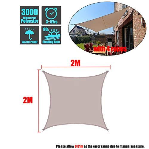PHY - Toldo rectangular de poliéster impermeable para jardín, terraza, natación, camping, senderismo, color gris