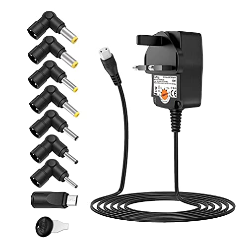 Universal Power Adapter AC Adapters 3 - 12v Power Supply 3V 4.5V 5V 6V 7.5V 9V 12V 1A DC Power Supply for Electronic Devices BT Speaker CCTV Wireless Router Cameras Android TV Box and More