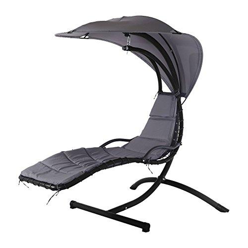 Trendyshop365 Design hangstoel Hawaii - zweefbed relaxligstoel schommelstoel incl. zonnezeil, kussen en hoofdkussen