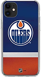 Skinit Clear Phone Case for iPhone 11 - Officially Licensed NHL Edmonton Oilers Jersey Design