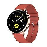 XYZK Il nuovo Smart Watch GW33 Maschio E Femmina Bluetooth Chiamata Smartwatch Frequenza Cardiaca ECG Monitor Sonno Tracker IP68 Impermeabile Intelligente Braccialetto (per IOS Android) (B)