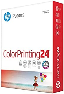 HP Printer Paper 8.5x11 ColorPrinting 24 lb 1 Ream 500 Sheets 97 Bright Made in USA FSC Certified Copy Paper HP Compatible...