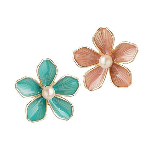 HJHJ Pendientes de plata de ley 925 pendientes de tuerca, lindos pendientes de flor para 2021 mujeres familia fiesta boda pendientes decoración