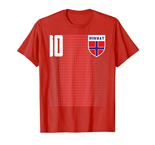 Norway Soccer Jersey Shirt Tee Norge Flag T-Shirt