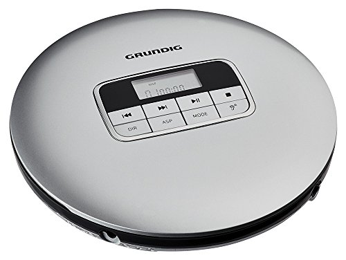 Grundig CDP 6600 Portable CD Player Negro, Plata - Unidad de CD (MP3,WMA, 20-20000 Hz, Portable CD Player, Negro, Plata, CD,CD-R,CD-RW, LCD)