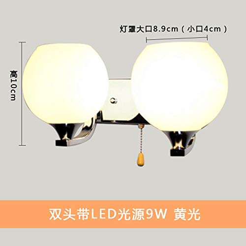 NZJSY Moderne Stijl Wandlamp Buitenverlichting Muur (Lamp niet inbegrepen) Wandlamp Bed Hoofd Moderne Minimalistische Creatieve led Wandlamp Warm Slaapkamer Woonkamer Aisle Rond met Lampen en Lantaarns