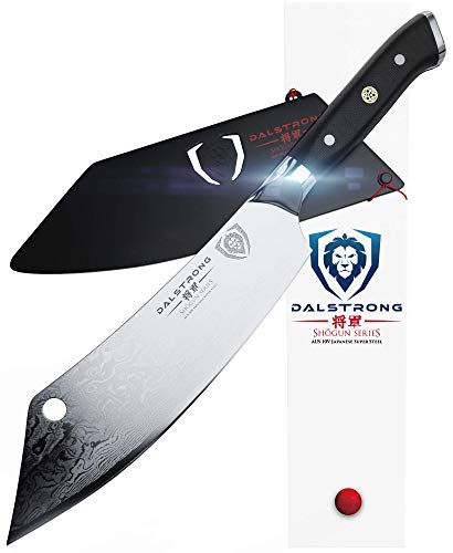 DALSTRONG Chef#039s Knife quotThe Crixusquot  8quot  Shogun Series  Chef amp Cleaver Hybrid  Japanese AUS10V Super Steel  Meat Knife  w/Sheath