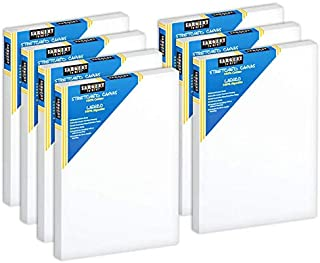 """Sargent Art 11""""x14"""" Stretched Canvas, Pack of 7, Acrylic Priming, 100% Cotton Canvases for Painting, Acrylic Pouring, Oil ..."""