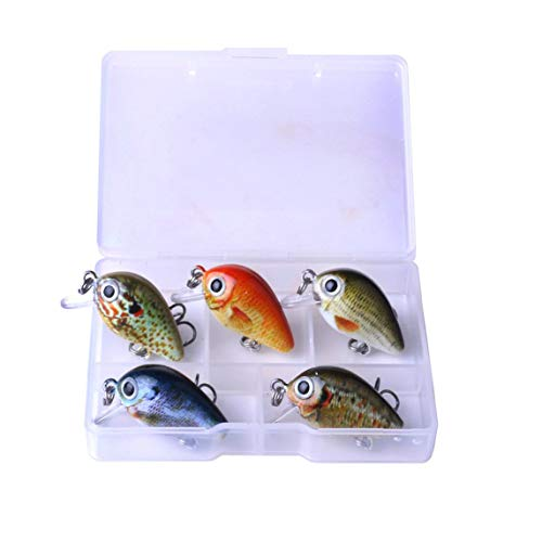 1 Set Mini Crank Fishing Lure Chubby Spinner Topwater bait Crankbait 3D Eyes Hard baits bass Water Minnows Fishing Tackle
