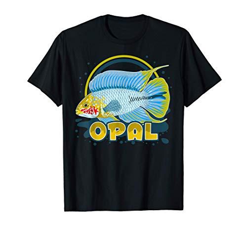 Apistogramma Zwergbuntbarsch Aquarium Aquarianer Geschenk T-Shirt