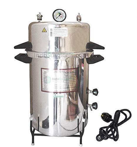 Zach Autoklav, elektrisch, 39 Liter, Aluminium, nahtlos, Schnellkochtopf Typ (Größe ca. 30,5 cm Durchmesser x 55,9 cm)