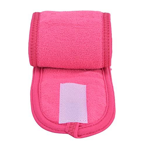 Diadema facial, toalla elástica para la cabeza del baño, banda para el cabello rosa de doble cara, envoltura, diadema para spa, toalla elástica ajustable para spa para niñas, para el hogar