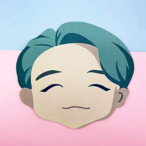 dfhdrtj Unieke Kpop BTS Mousepad Bangtan Jongens POP-UP Winkel [ Huis van BTS : Karakter ] Hoge Precisie Stof Rubber Basis RM/
