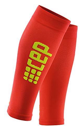 CEP - Ultralight Calf Sleeves für Herren   Dünne Beinstulpen für exakte Wadenkompression   rot/grün   Größe III