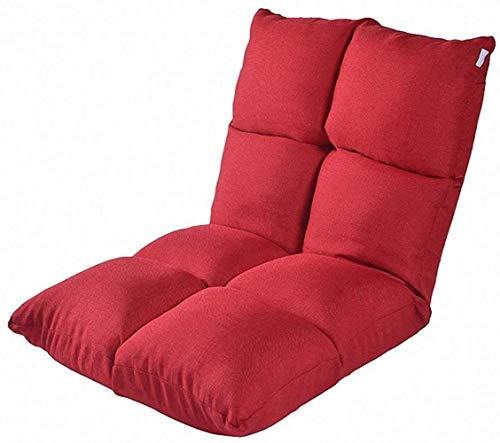 LHY- Lit Computer Chaise Lazy Simple Canapé Tatami Pliant de Style Japonais Bay Dortoir Fenêtre Plancher Canapé Doux (Color : Red)