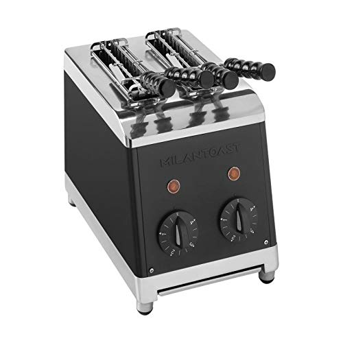 Tosti Apparaat 2-tangs zwart        Milan Toast 7005
