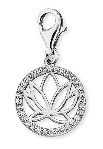 Engelsrufer Damen-Charm Charm Lotus 925er Silber Zirkonia One Size 87928357