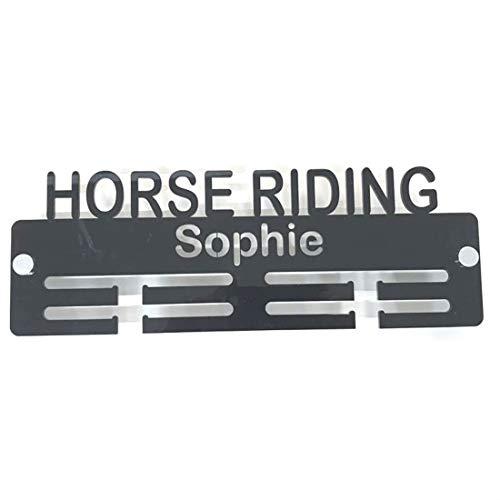 Servewell - Porta medaglie con scritta'Horse Riding'