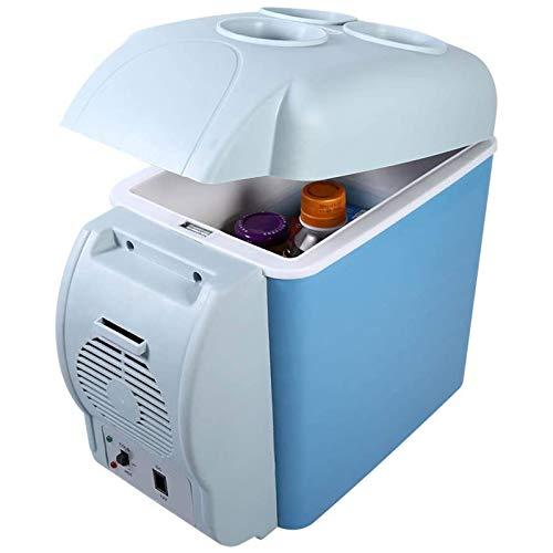 FASZFSAF Mini Refrigerador, Refrigerador EléCtrico PortáTil del Mini Refrigerador Sitio Refrigerador 7.5L Adecuado para Maquillaje y Cuidado de la Piel Home Bar Dormitorio,Azul