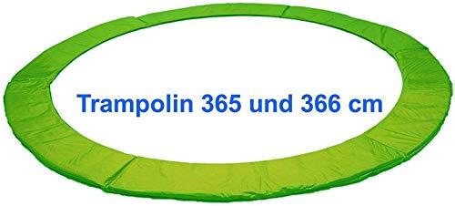 Izzy Trampolin Federabdeckung 30 cm breit - Ø 365 366 cm, PVC reißfest, 100% UV-beständig, grün, Randabdeckung, Randpolsterung, Randschutz, Umrandungsmatte (365 366 cm - grün)