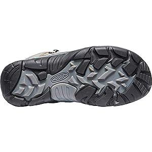 KEEN Women's Durand 2 Mid Waterproof Hiking Boot, Grey Flannel/Steel Grey, 10