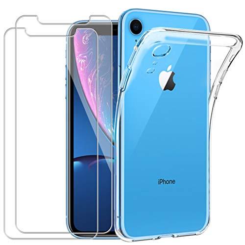 Yoowei [2-Pack] Cover per iPhone XS Trasparente con Disegni