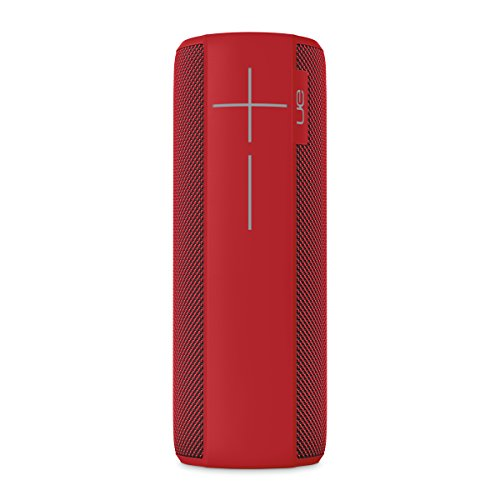 Ultimate Ears Megaboom Tragbarer Bluetooth-Lautsprecher, Satter Tiefer Bass, Wasserdicht, App-Navigation, Kann mit weiteren Lautsprechern verbunden werden, 20-Stunden Akkulaufzeit - rot