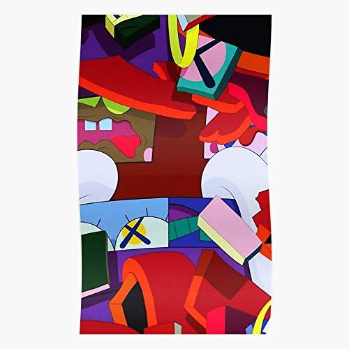 Wallpaper Collage Stars Selling Top Gold KAWS Popular Geschenk für Wohnkultur Wandkunst drucken Poster 11.7 x 16.5 inch
