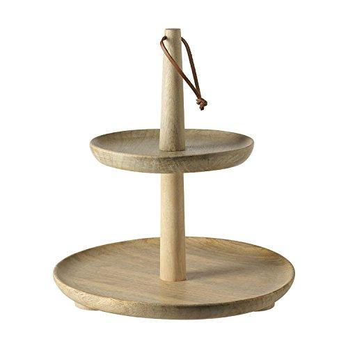 LEONARDO 063281 Holzetagere - Natale - 2-teilig