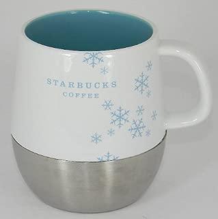 Starbucks Snowflake Mug Cup Holiday 2007 Stainless Base