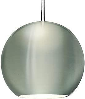 WAC Lighting MP-LED953-BN/CH Kosmisk LED MonoPoint Pendant with Brushed Nickel Finished Metal Shade and Chrome Finished Socket Set